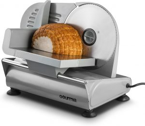 """Gourmia GFS700 Professional Electric Power Food & Meat Slicer with Removable 7.5"""" Stainless steel Blade - Adjustable Knob for Thicknes"""