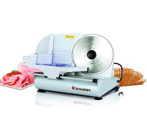 Kitchener 9-inch Professional Electric Meat Deli Cheese Food Slicer, Stainless Steel Blade, 150 Watt